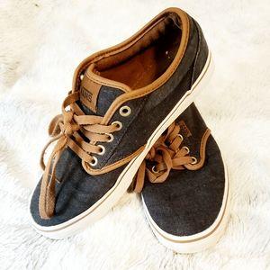Van's Off The Wall Classic Blue/Tan Shoes (M/7.5)